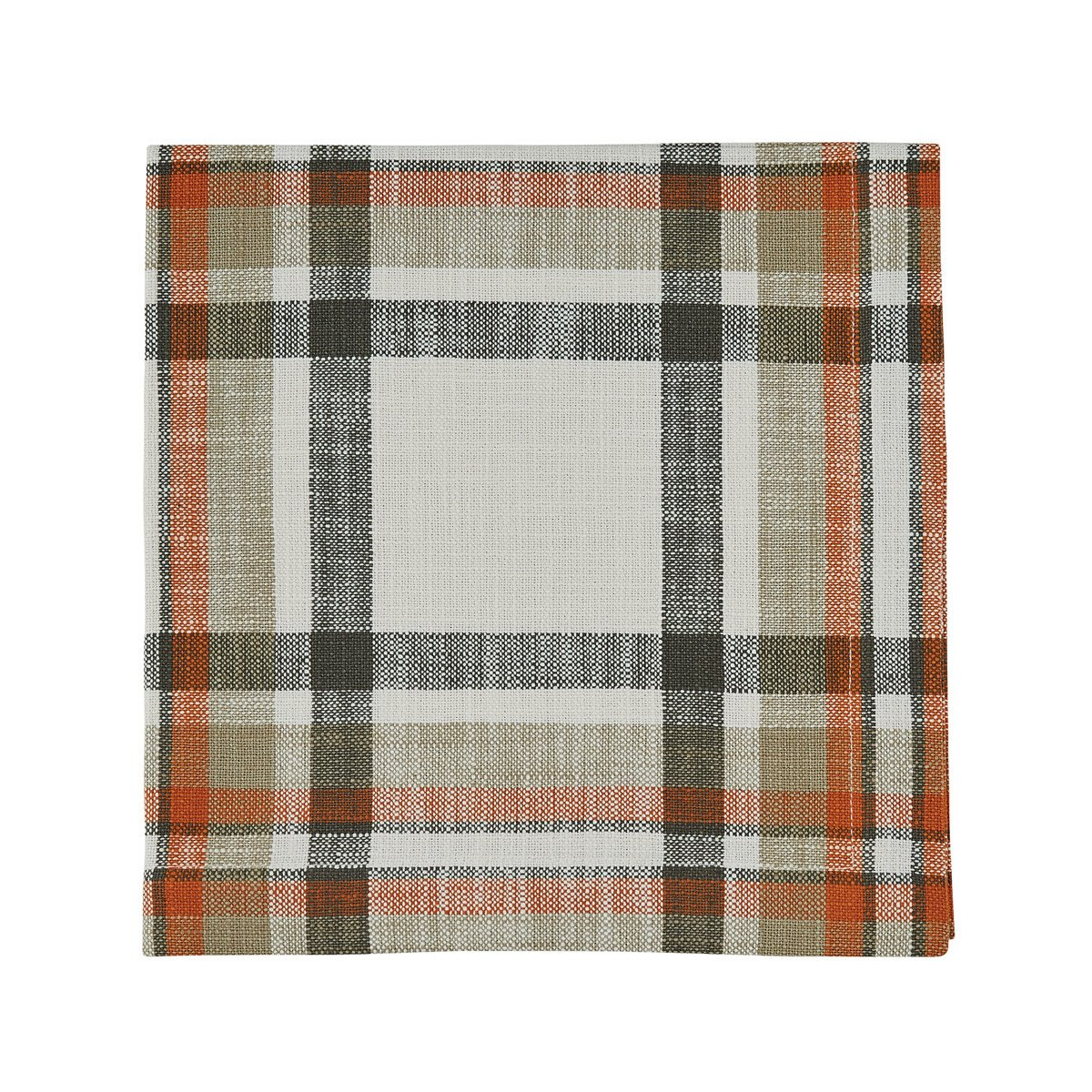 October Spice Plaid Woven Napkin