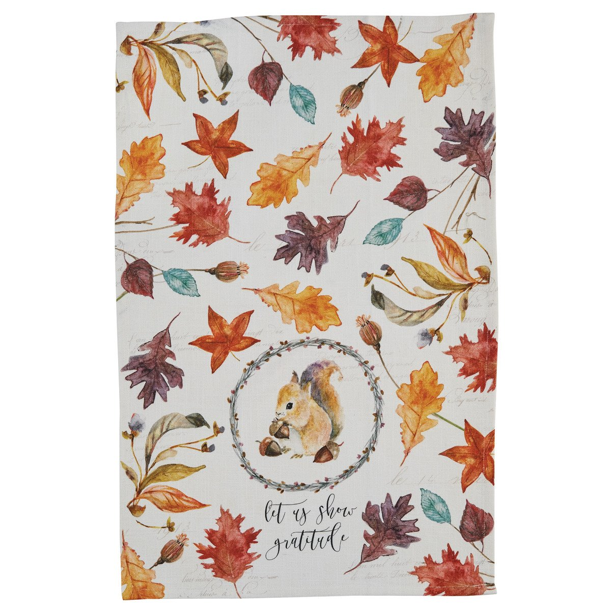 Harvest Home Squirrel Dishtowel