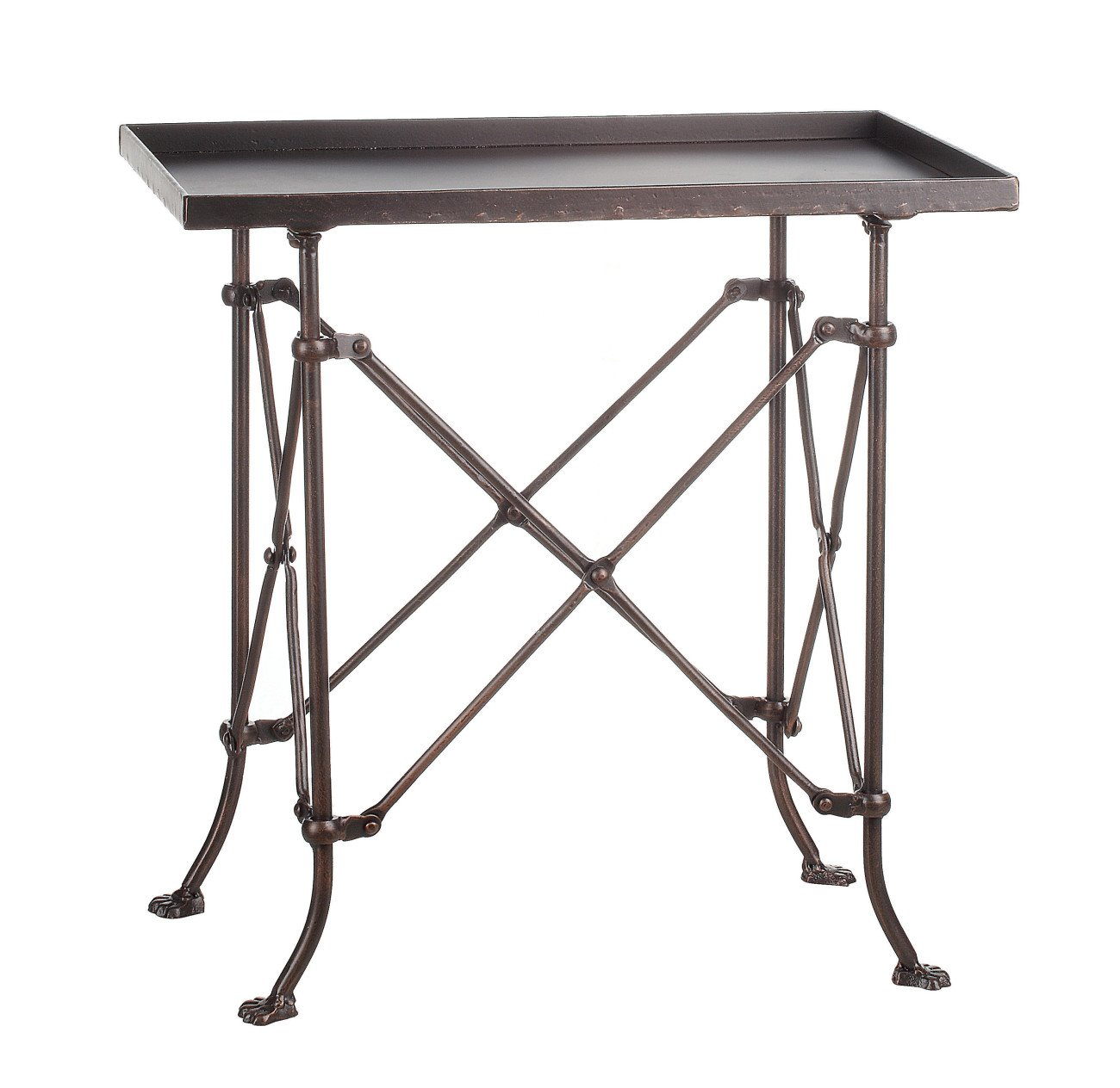 """20"""" Metal Rectangle Accent Table"""