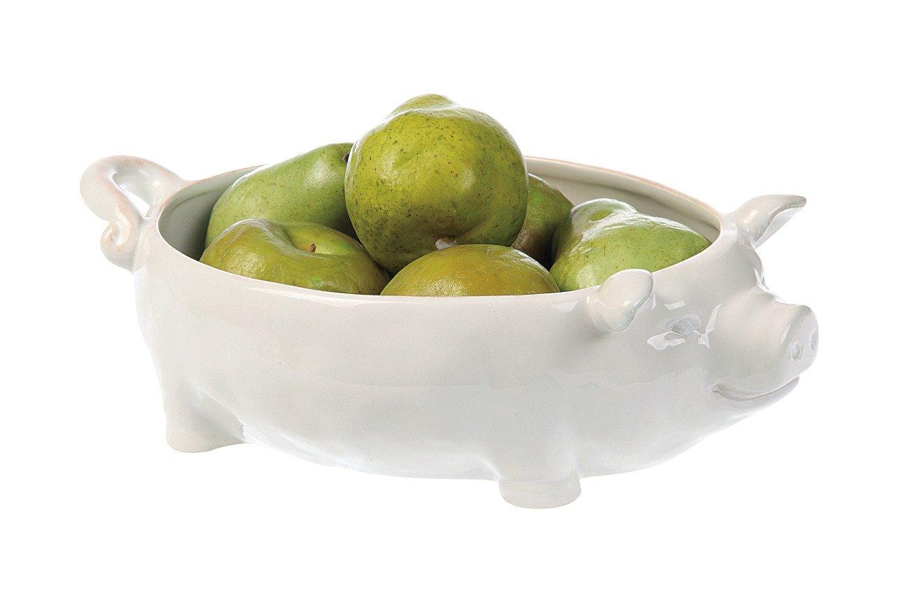 White Ceramic Pig Shaped Bowl