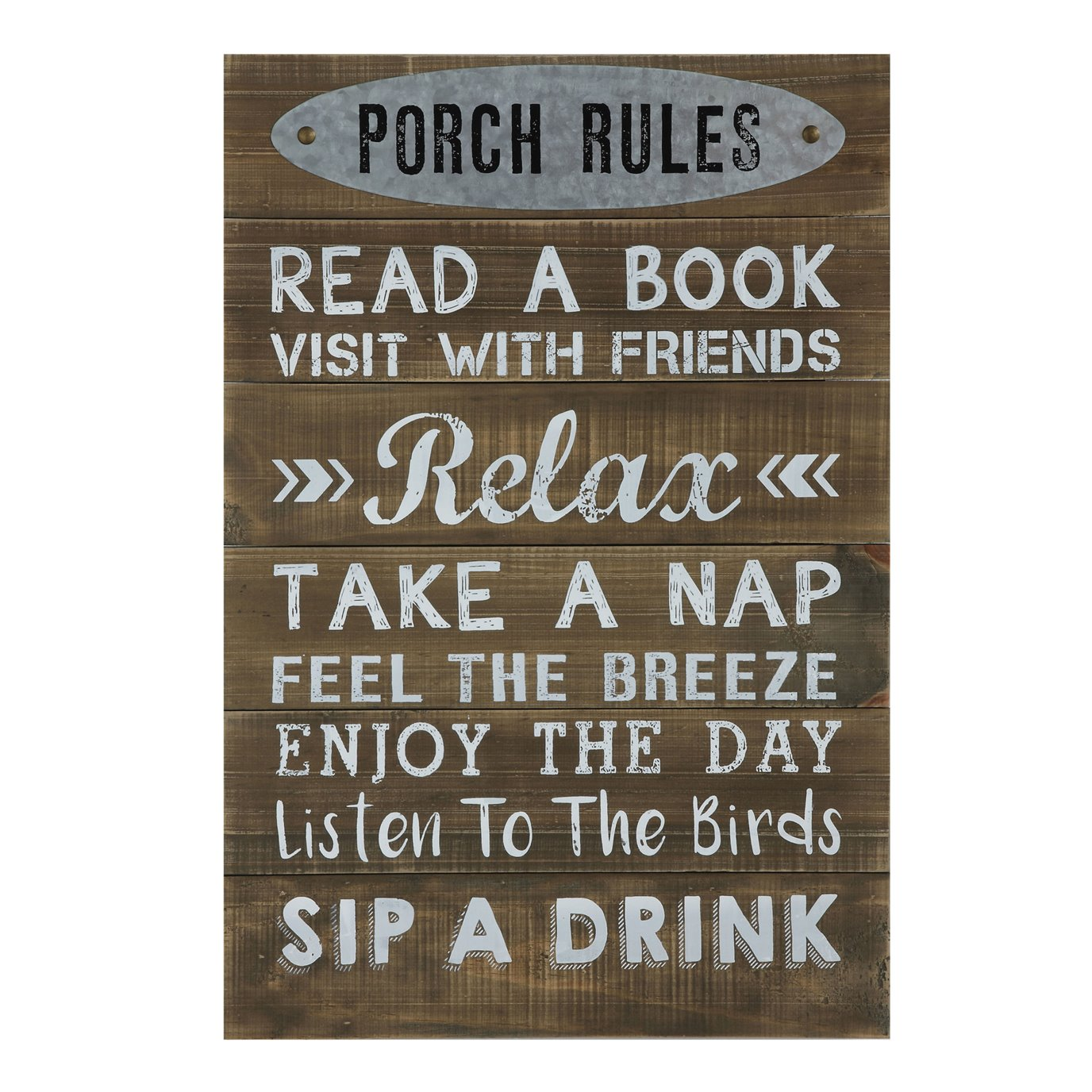 """""""Porch Rules ..."""" Wood Wall Décor"""