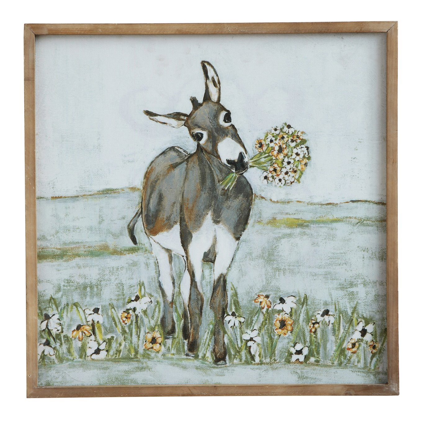 Donkey Wall Décor in Wood Frame