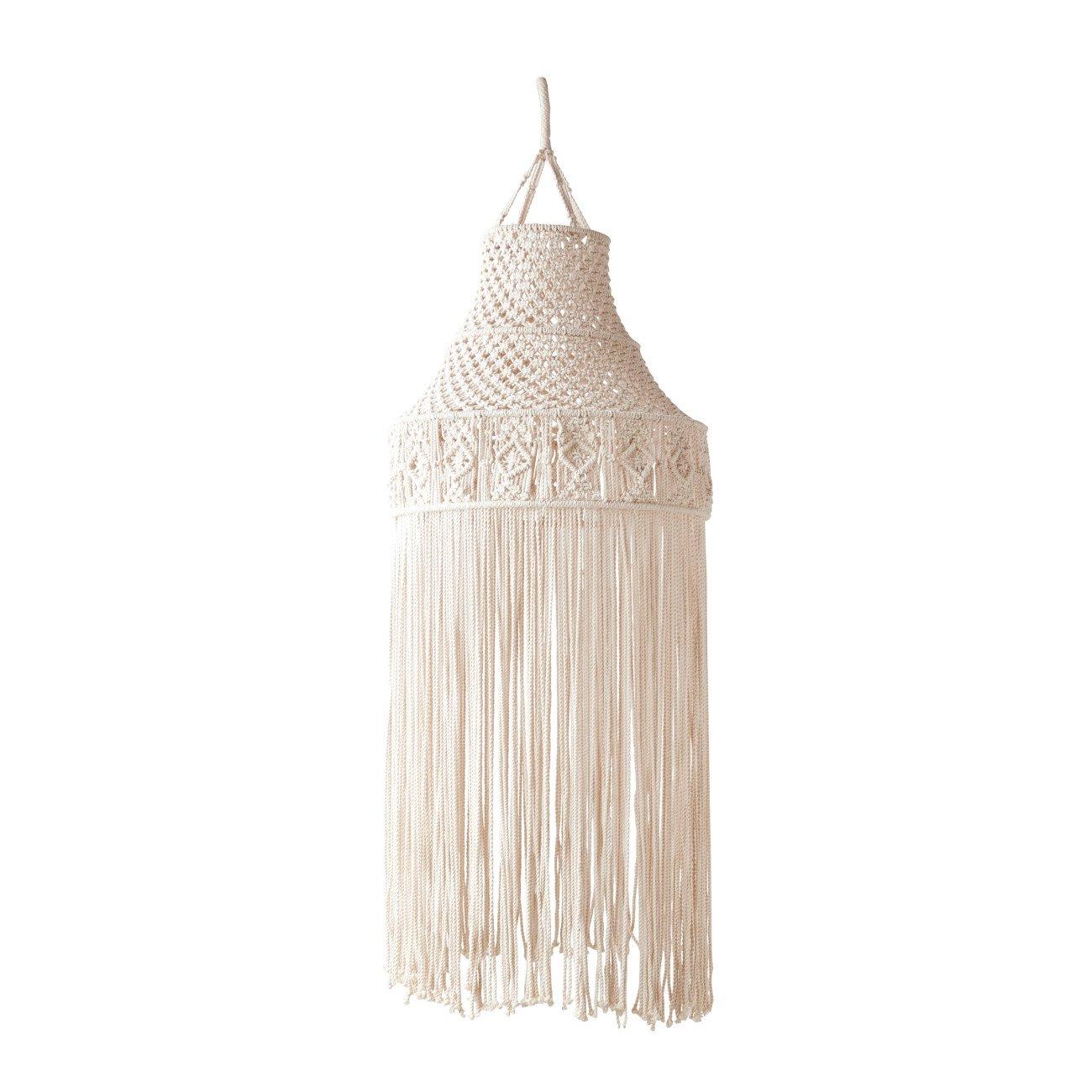 Cream Macramé Hanging Canopy