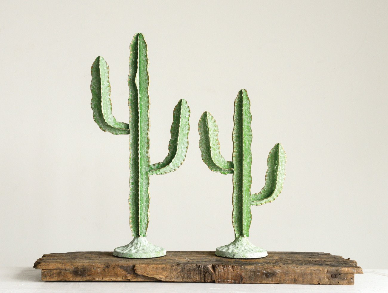 Green Metal Cactus