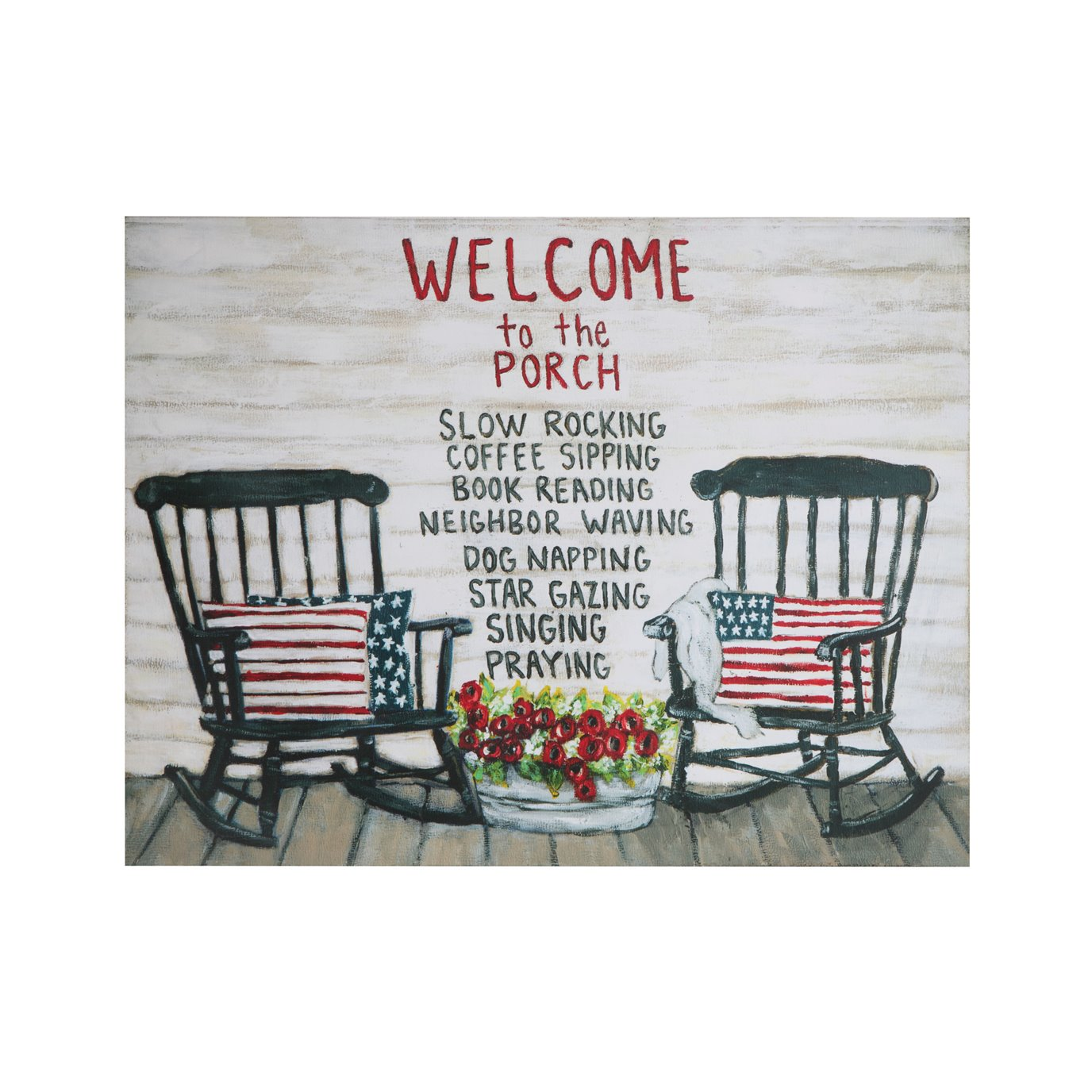 """Welcome to the Porch…"" Tin Wall Décor"