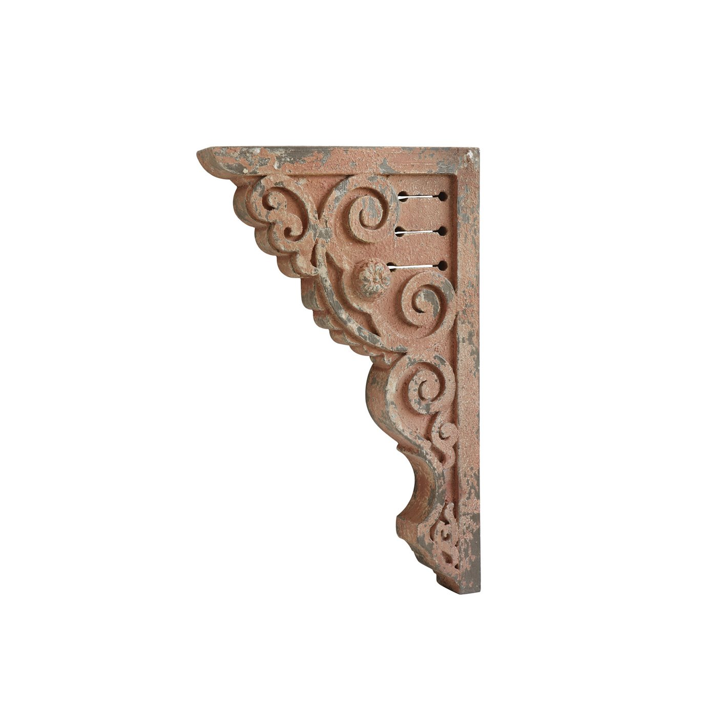 Distressed Pink Corbels (Set of 2 Pieces)
