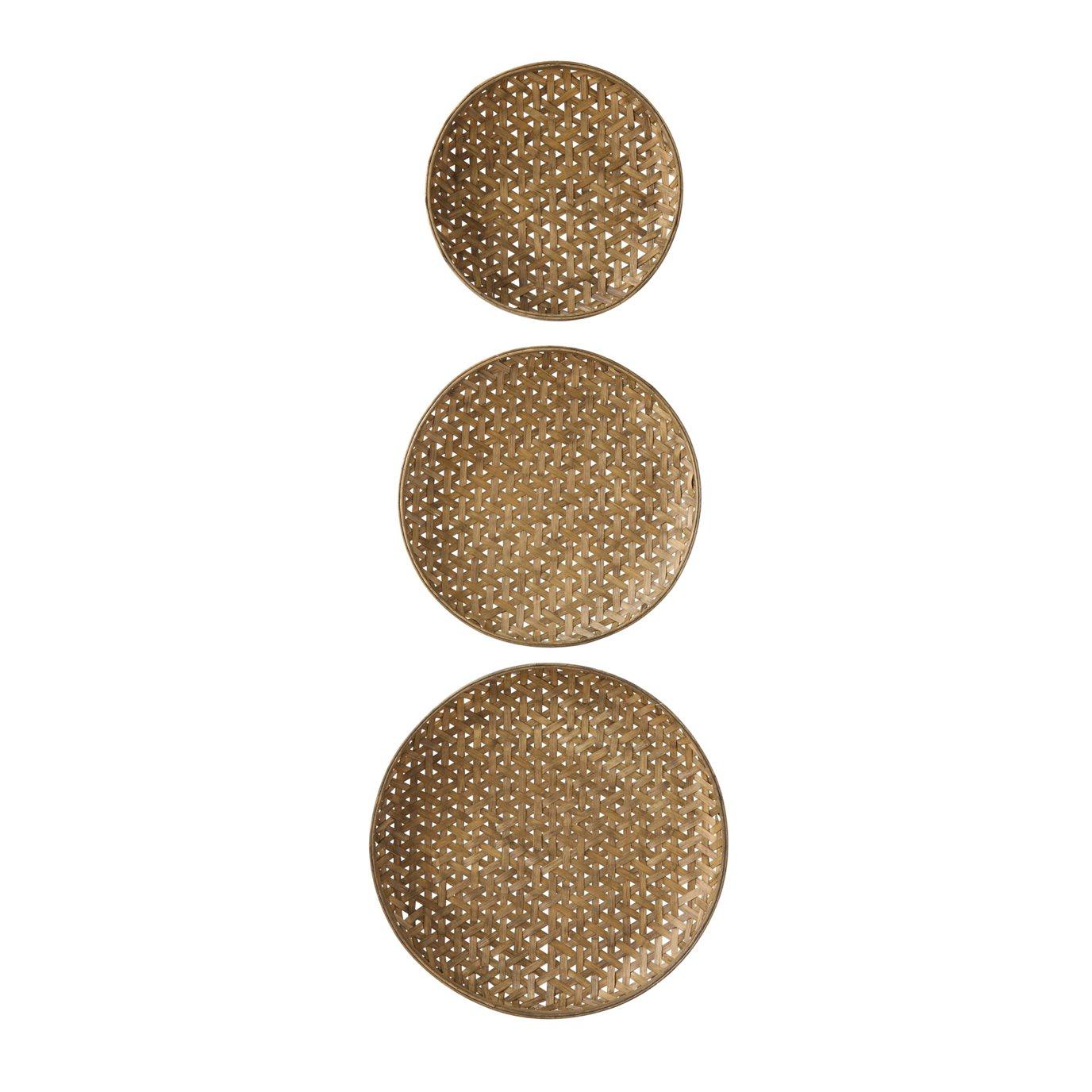 Round Bamboo Baskets (Set of 3 Sizes)