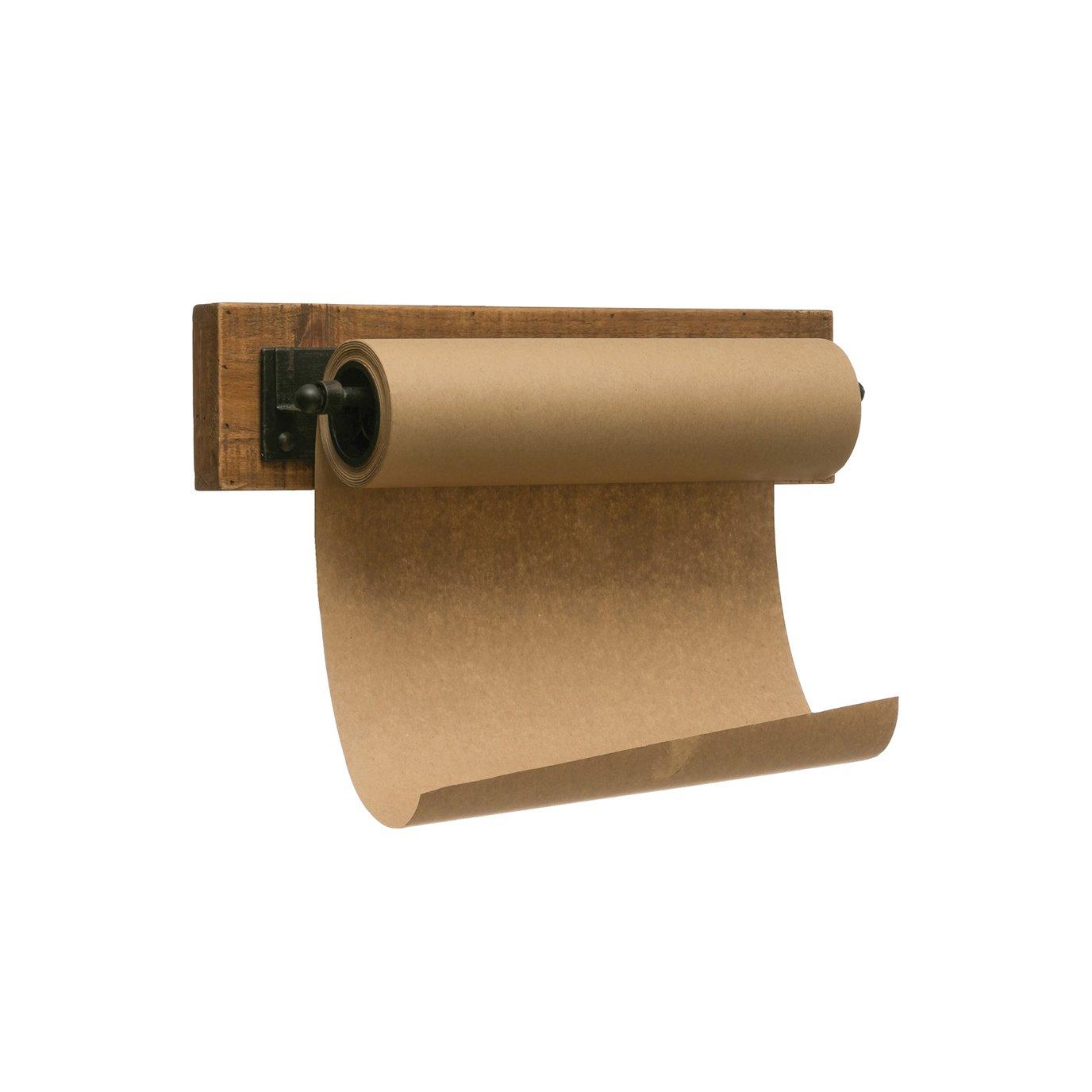 """12""""W Paper Roll on Wood & Metal Wall Bracket"""