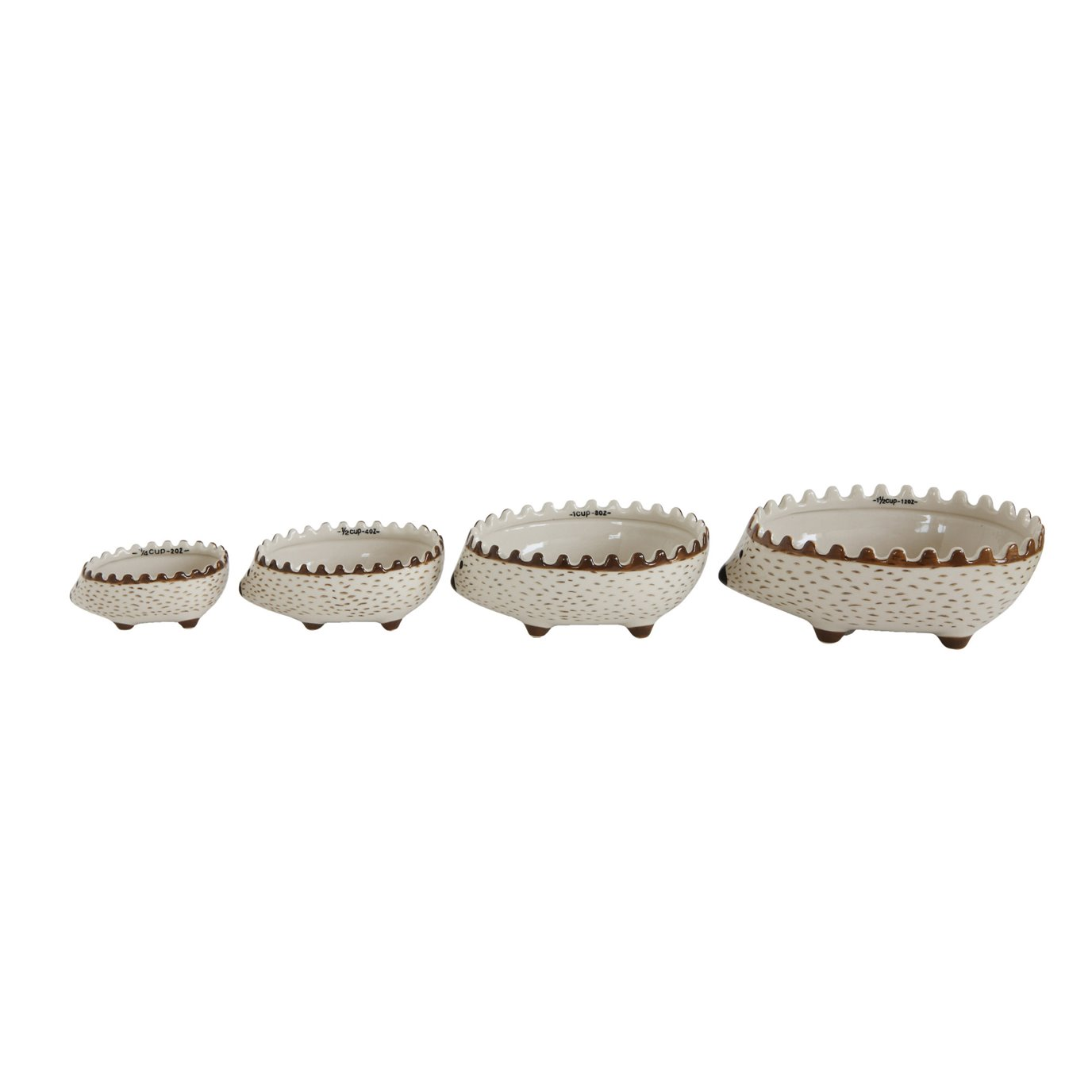 Hand Painted Stoneware Hedgehog Measuring Cups (Set of 4 Sizes)