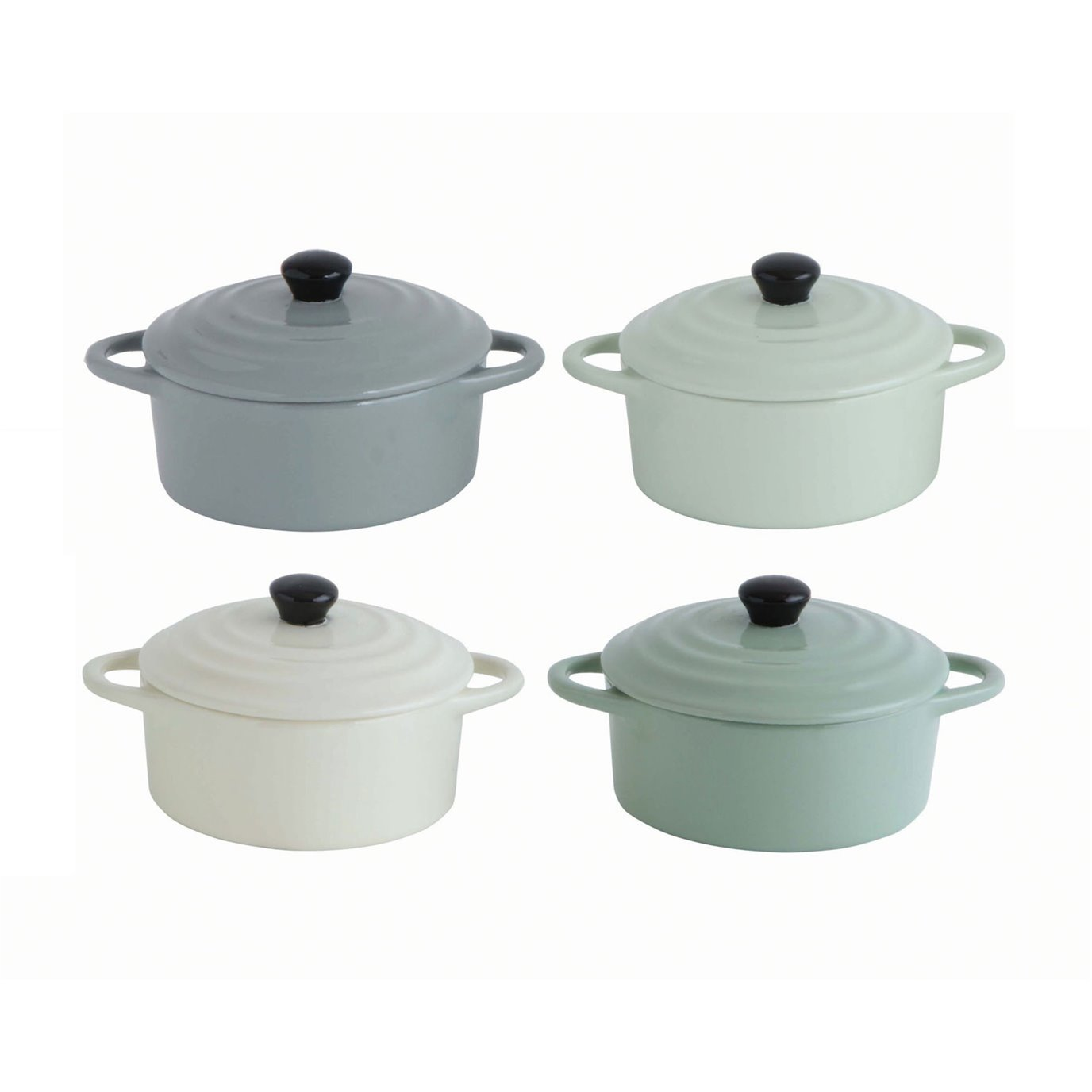 Stoneware Mini Bakers with Lids (Set of 4 Colors)