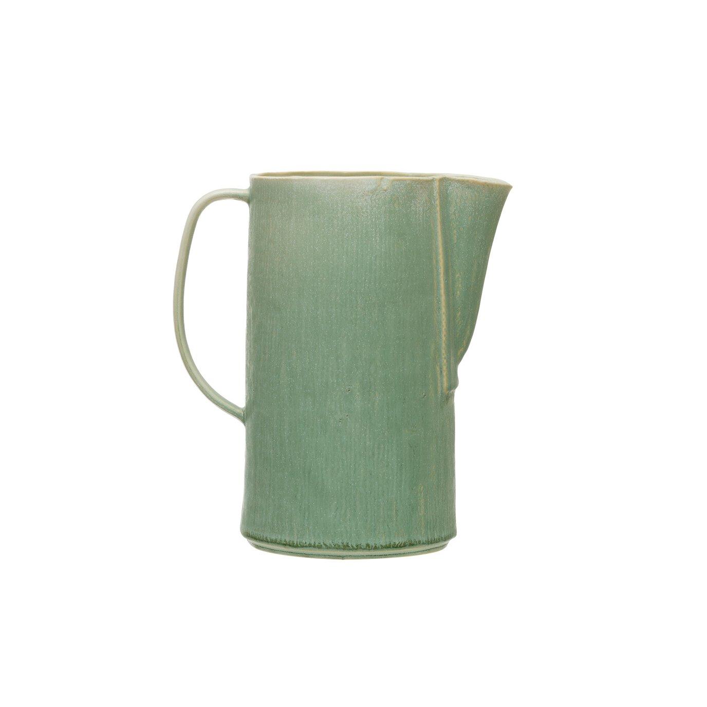 Celadon Stoneware Pitcher