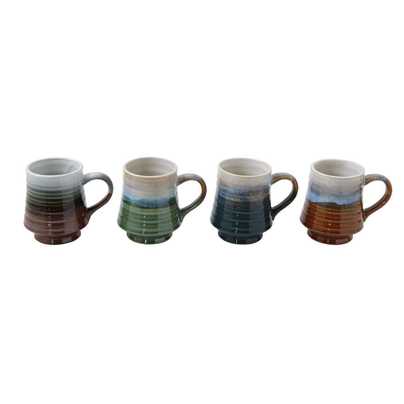 Reactive Glaze Stoneware Mug (Set of 4 Colors)