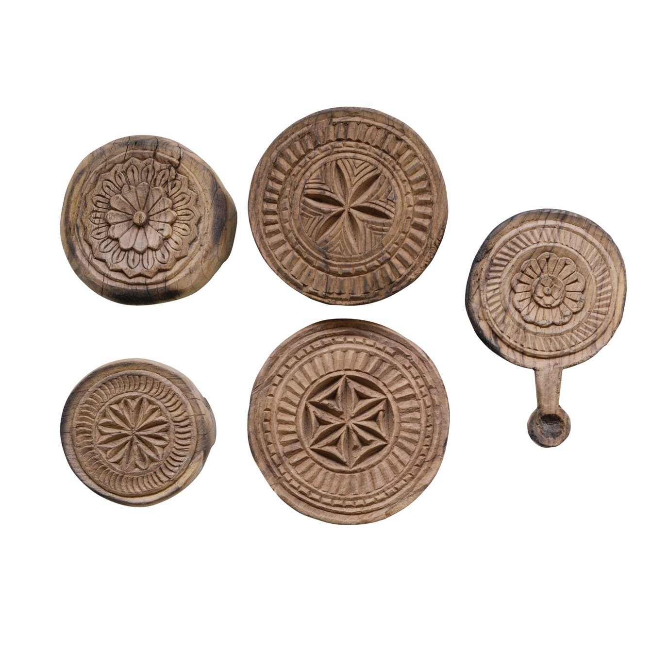Found Hand Carved Wood Indian Bread Board (Shapes & sizes will vary)