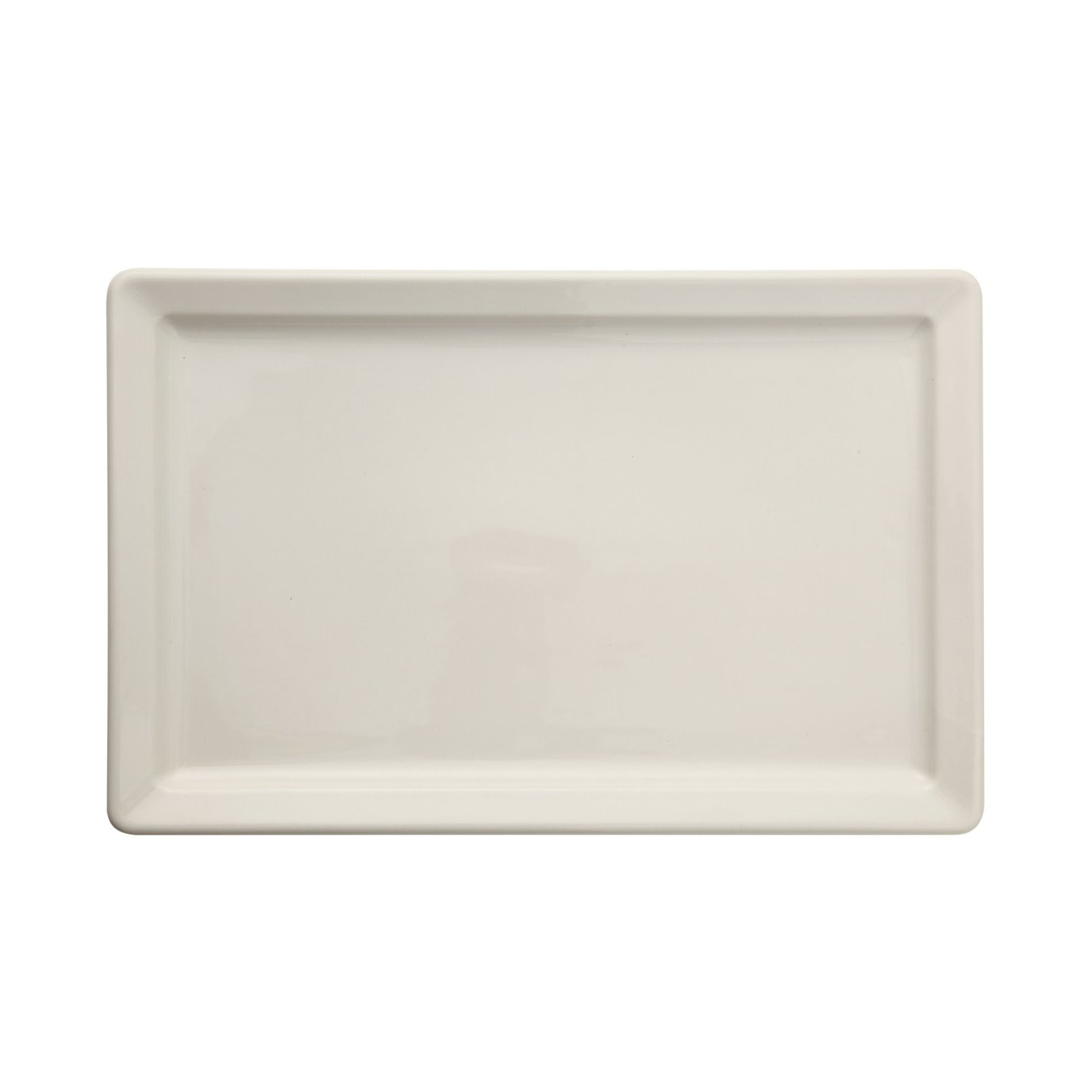 Large Antique White Vintage Reproduction Rectangle Stoneware Platter