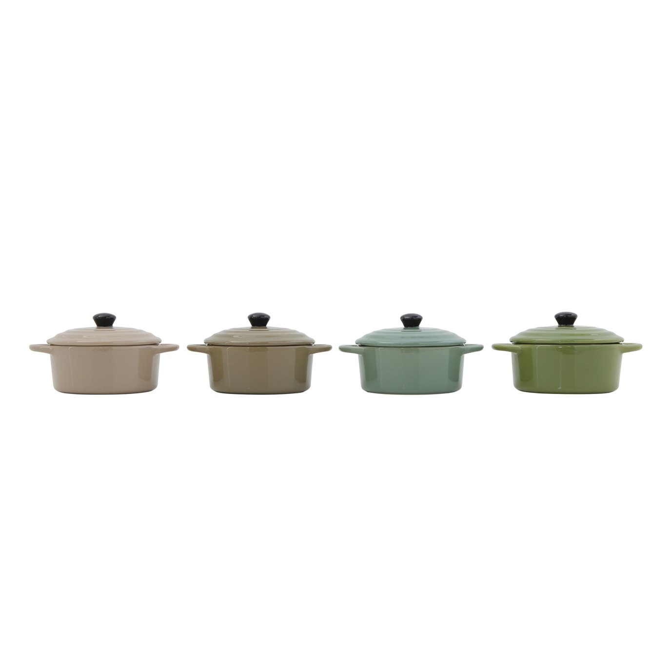 Stoneware Mini Baker with Lid (Set of 4 Colors)