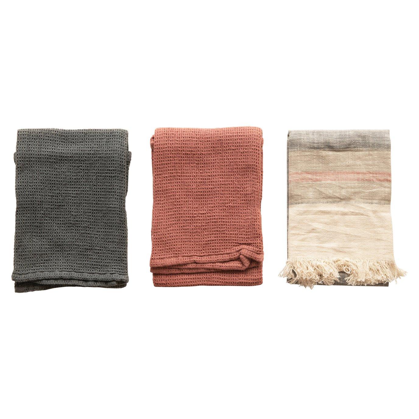 Cotton Tea Towels, Multi Color, Set of 3