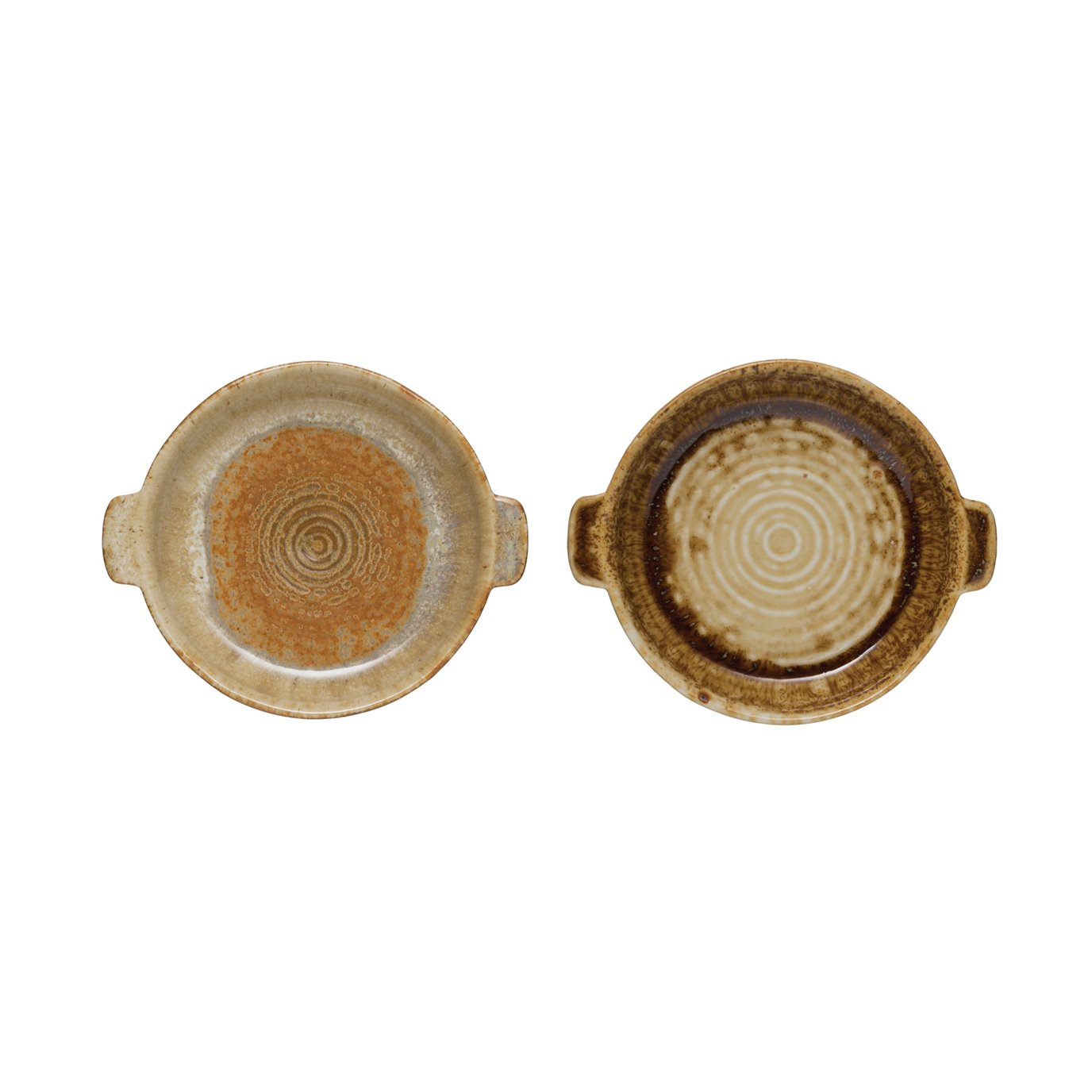 Stoneware Baker with Reactive Glaze Finish (Set of 2 Styles/Each one will vary)