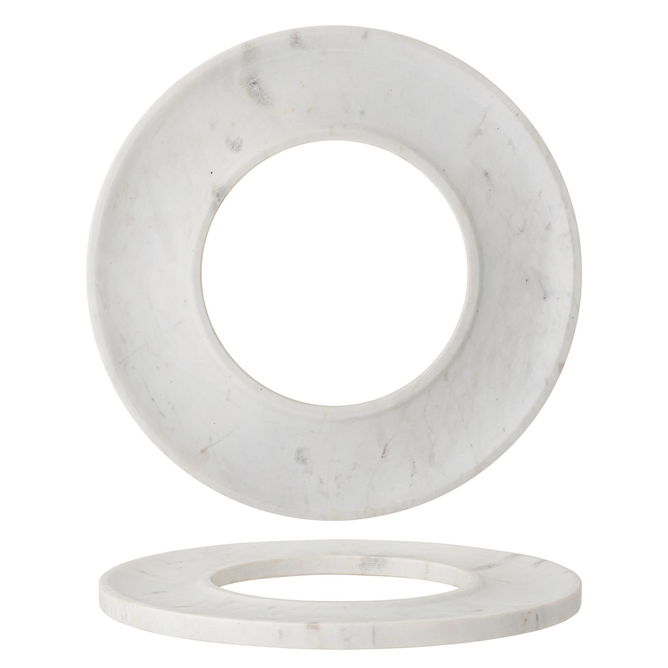 White Marble Circle Cracker/Cheese Tray