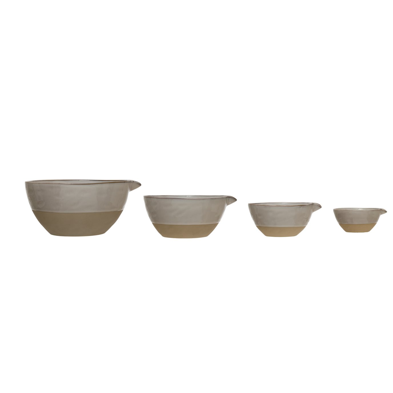 Stoneware White Batter Bowls (Set of 4)