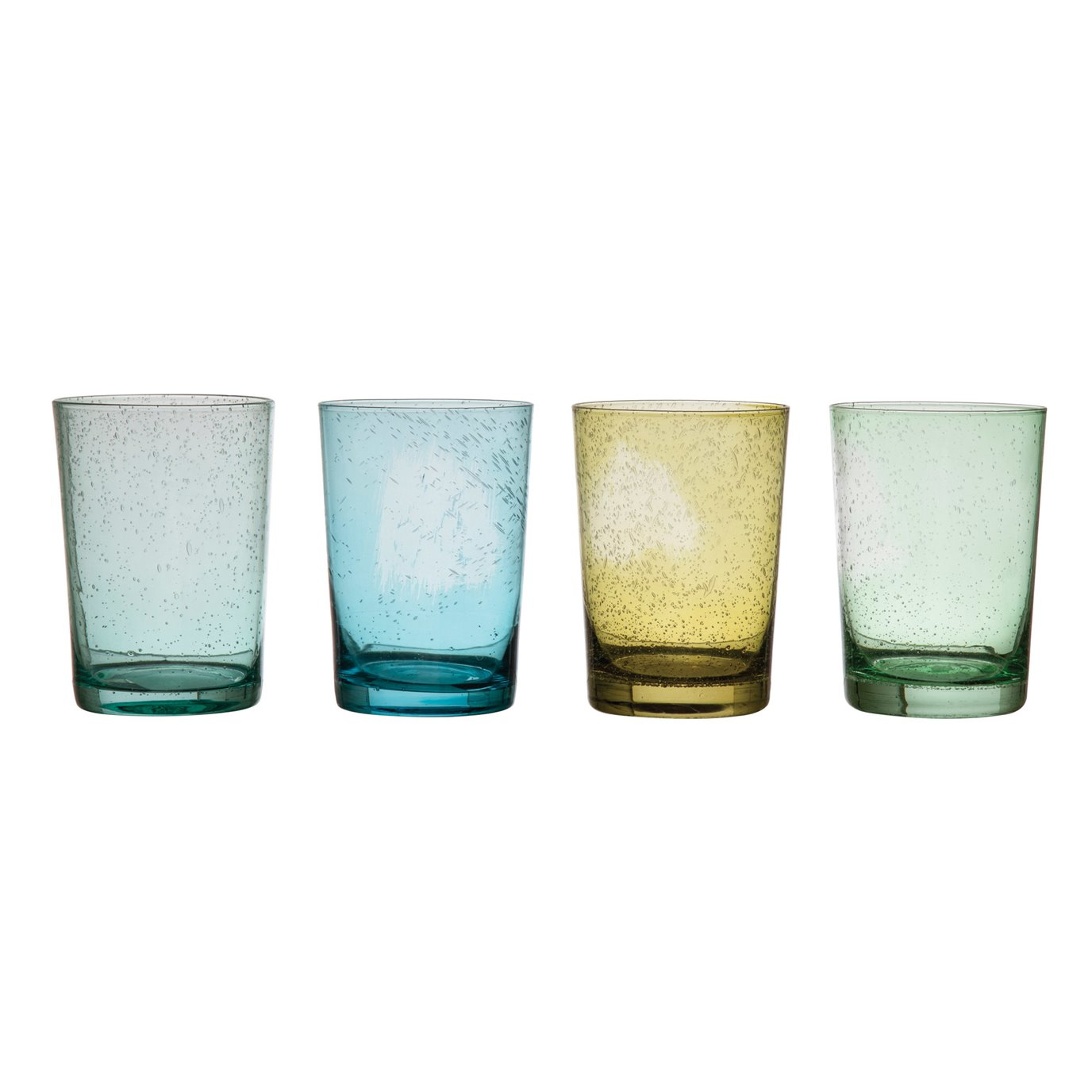 12 oz. Bubble Glass Drinking Glass, 4 Colors