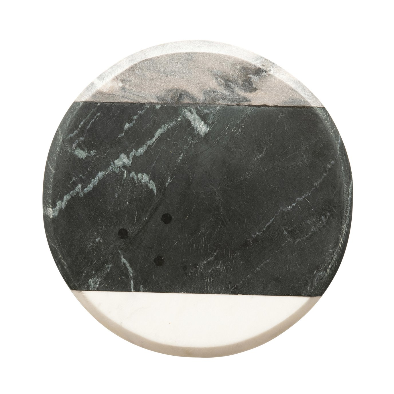 Round Marble Cheese/Cutting Board, Grey, Black & White