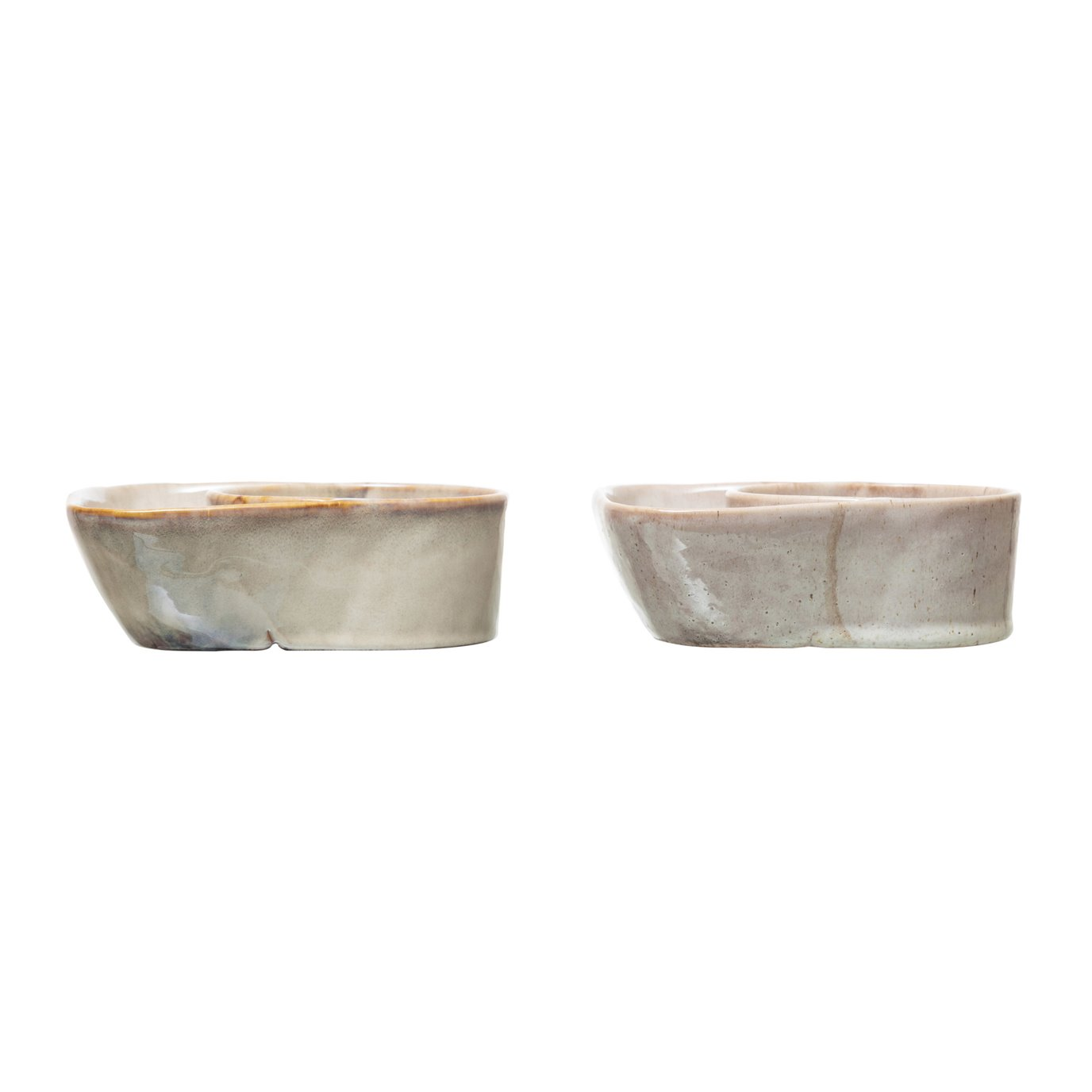 Stoneware Cracker & Soup Bowl, Reactive Glaze, 2 Colors (Each One Will Vary)