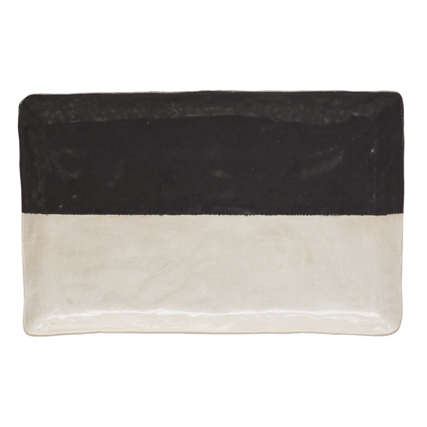 Stoneware Platter, Black & White (Each One Will Vary)
