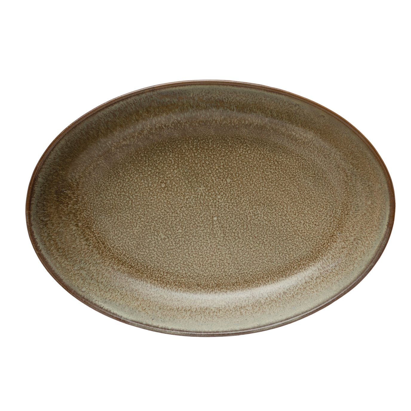 Stoneware Serving Bowl, Reactive Glaze, Brown (Each One Will Vary)