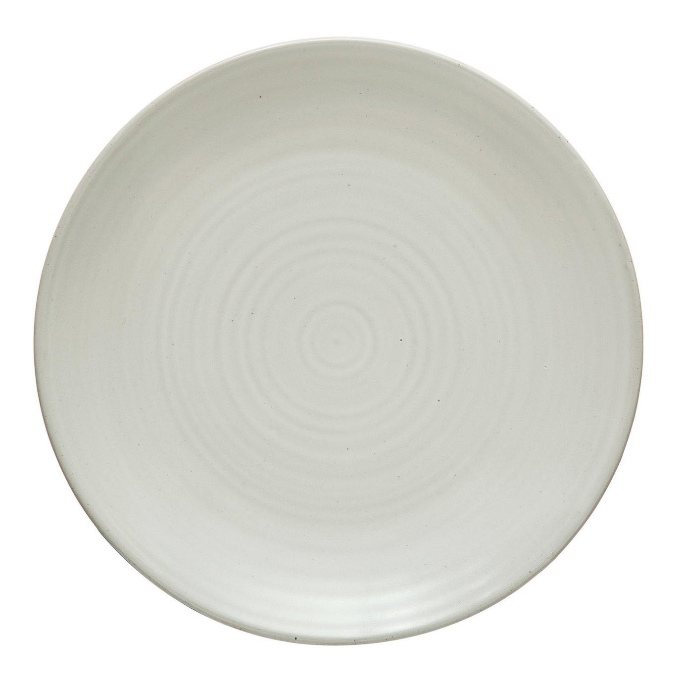 Stoneware Plate, Matte White