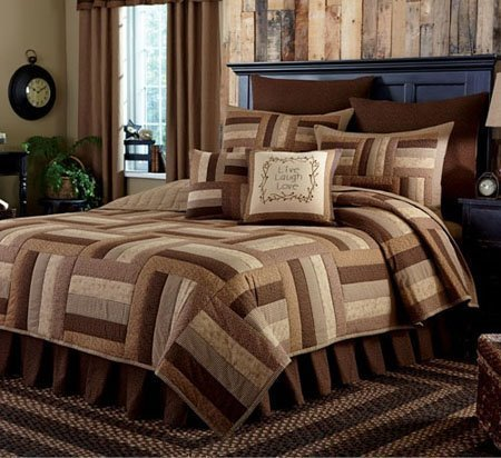 Shades of Brown King 3 Piece Quilt set