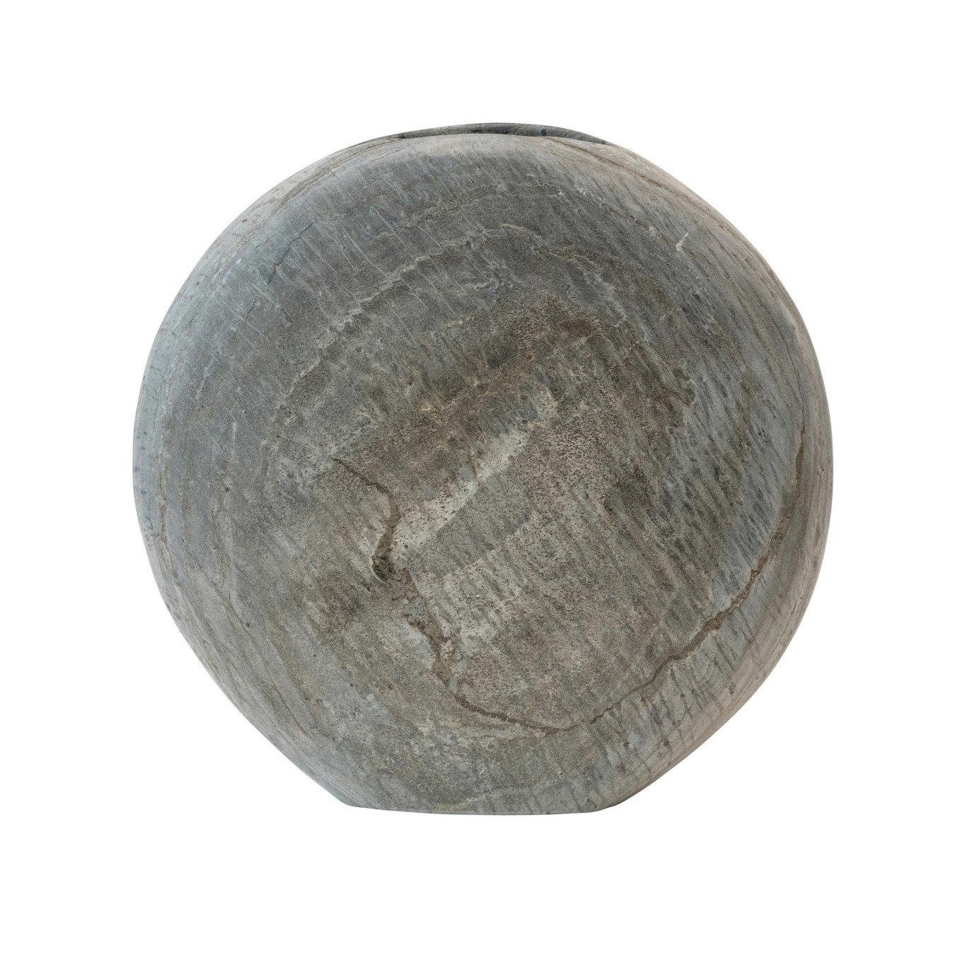 Natural Slate Vase, Grey (Each One Will Vary)