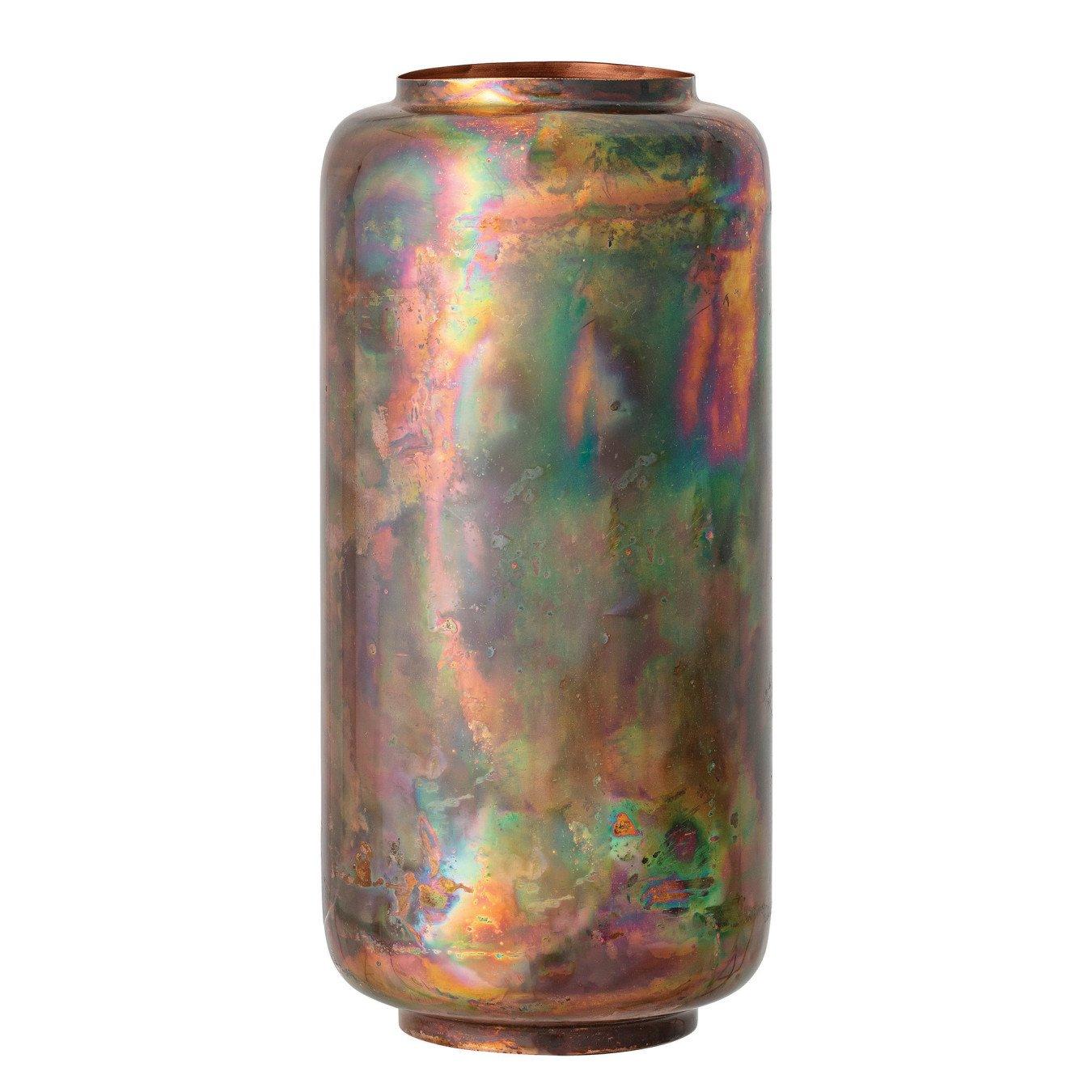 Oxidized Copper Finish Metal Vase