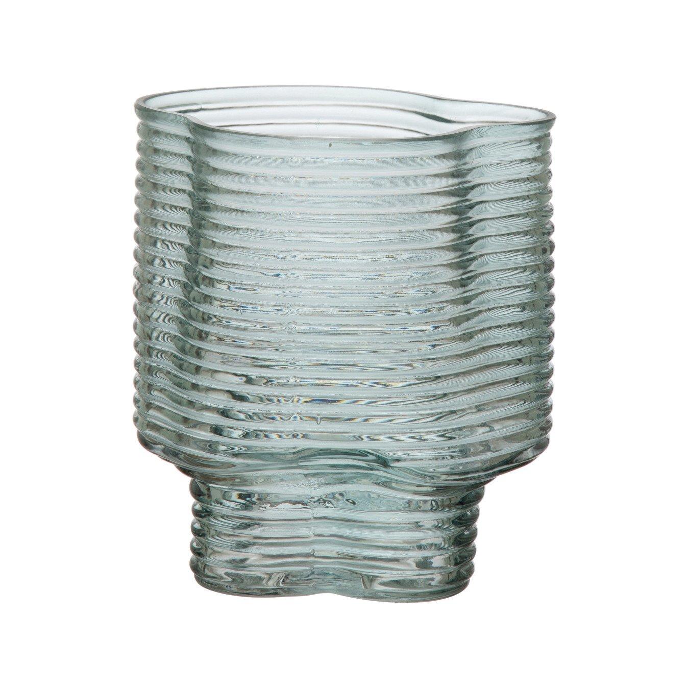 Molded Glass Vase, Green