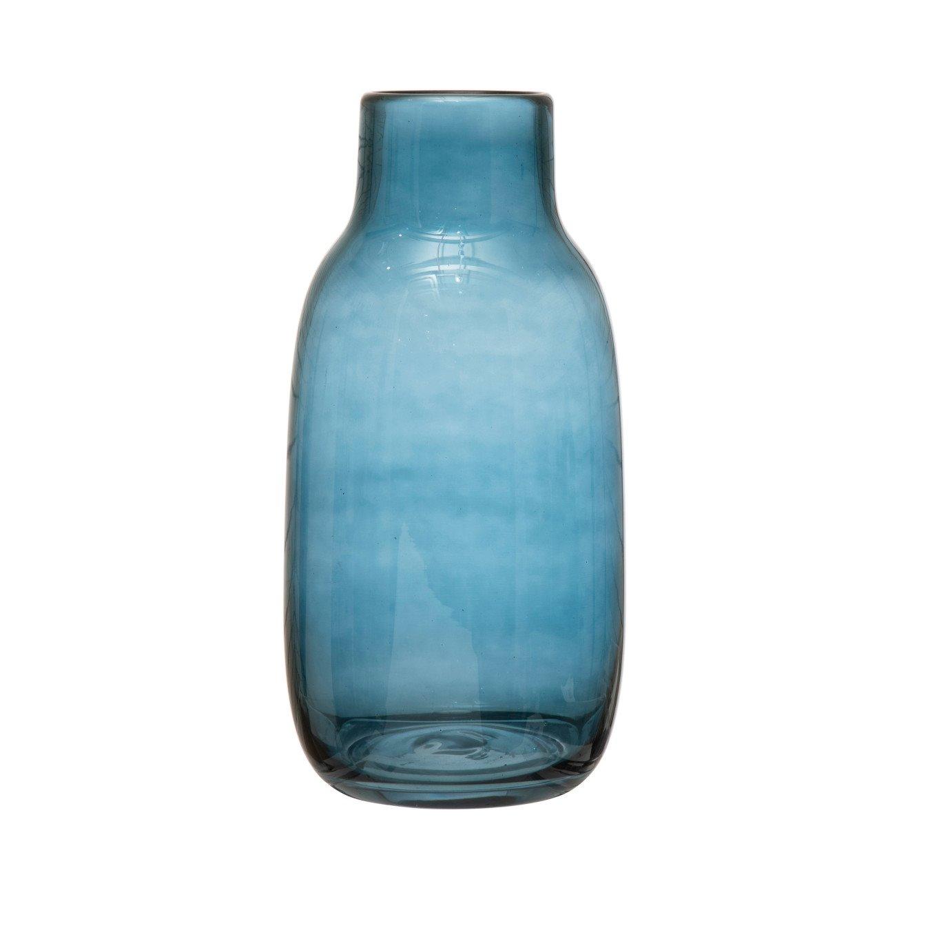 Glass Vase, Blue