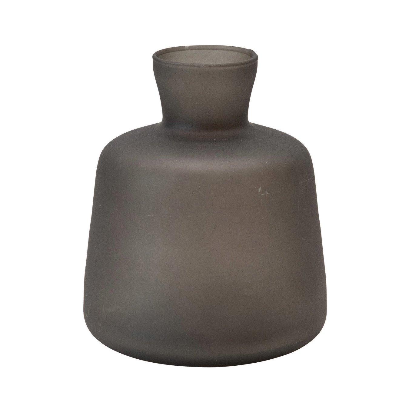Glass Vase, Black Frosted Finish