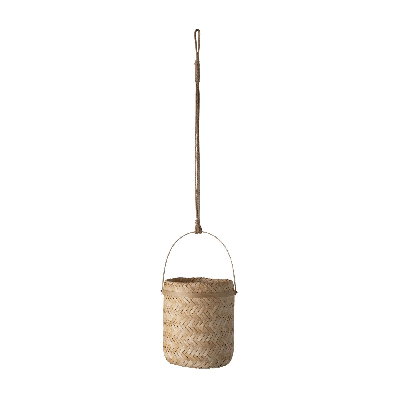 Natural Bamboo Hanging Planter