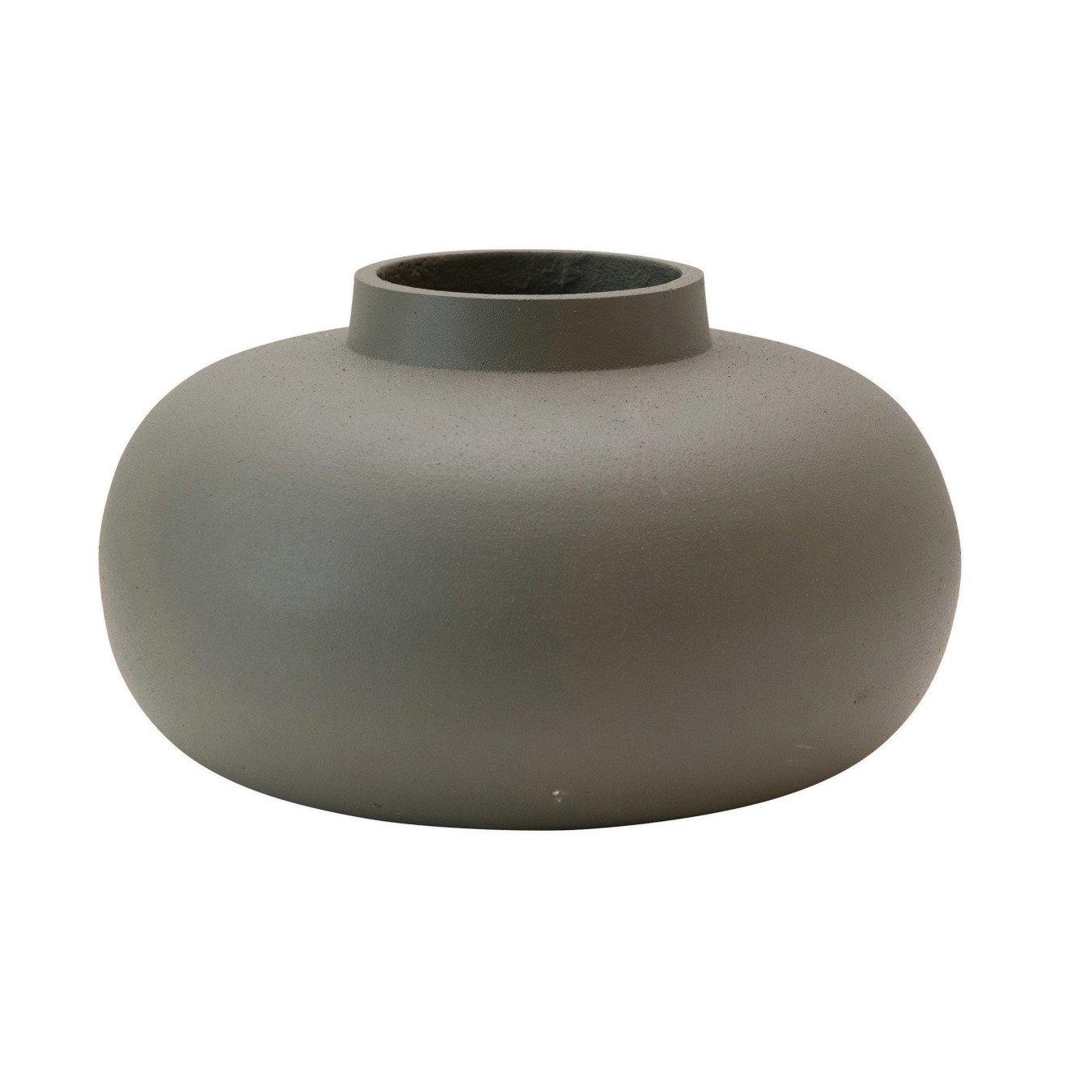 Cast Metal Vase, Grey