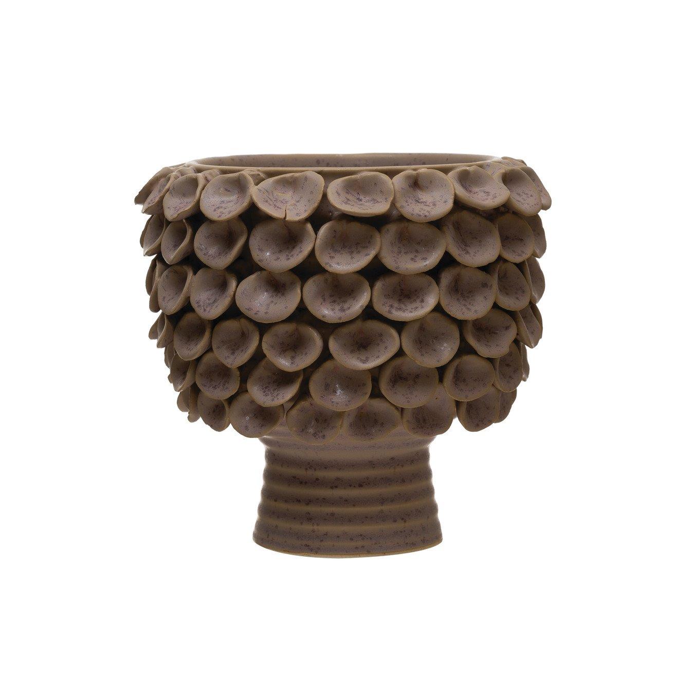Lavendar Stoneware Planter