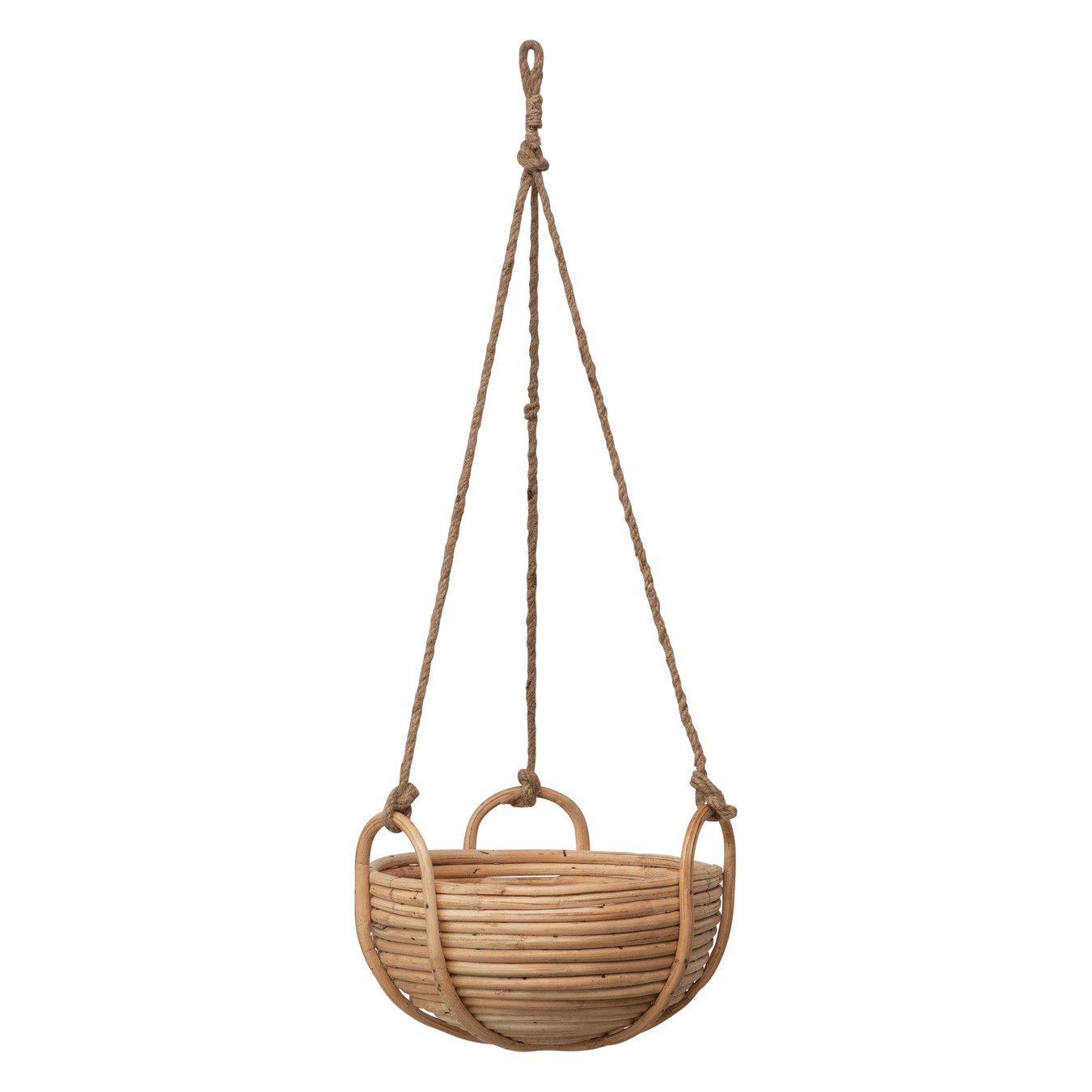 Natural Rattan Hanging Planter