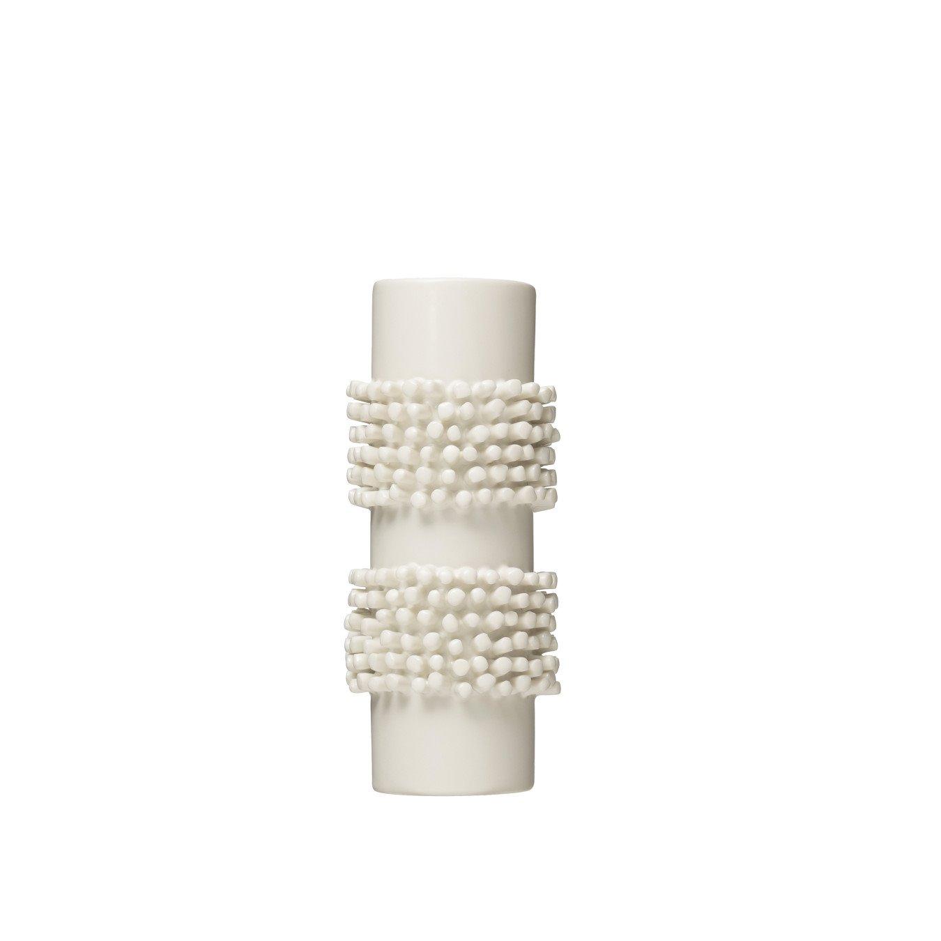 "Handmade 8""H Poodle Cut Stoneware Vase"