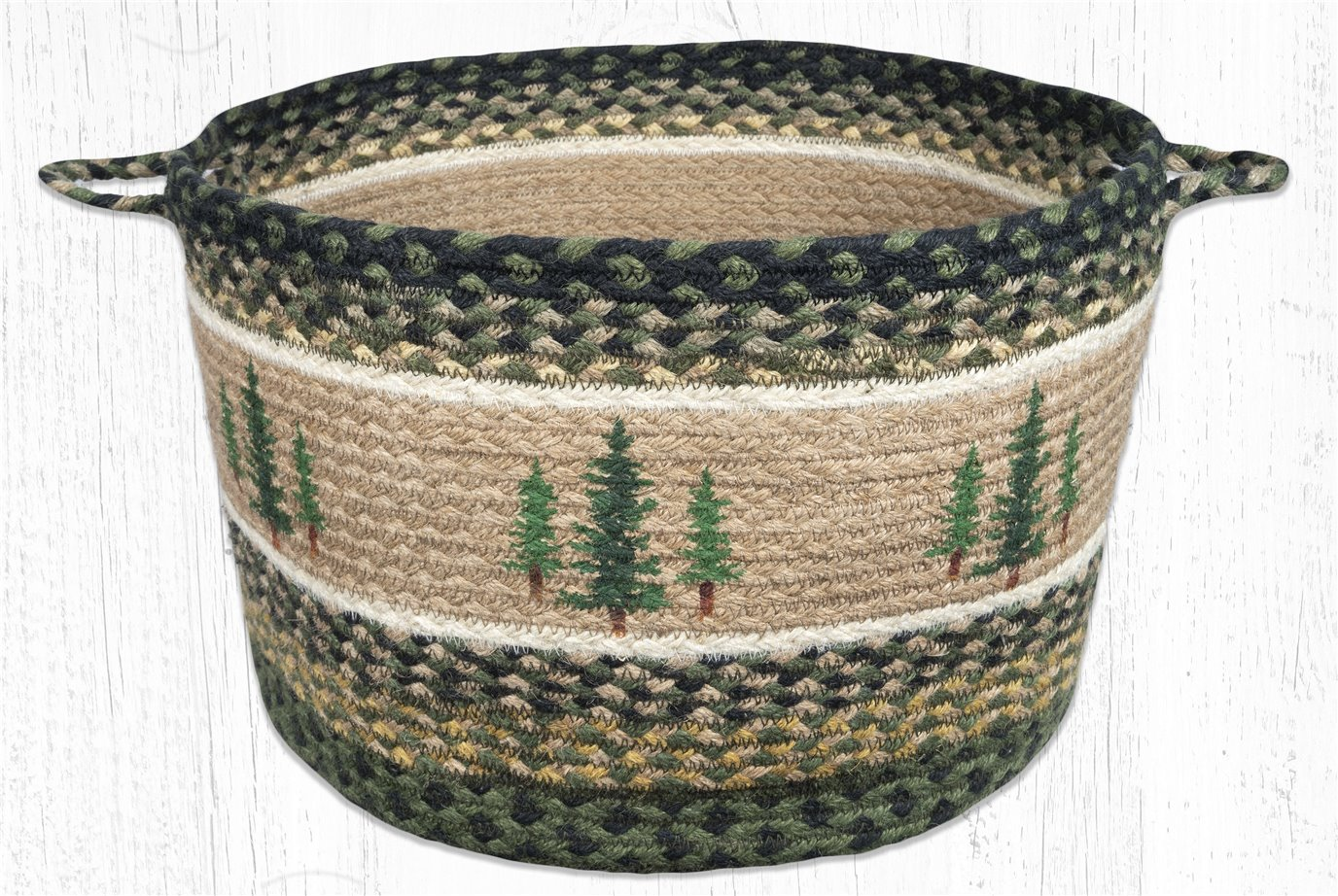 """Tall Timbers Printed Braided Utility Basket 17""""x11"""""""