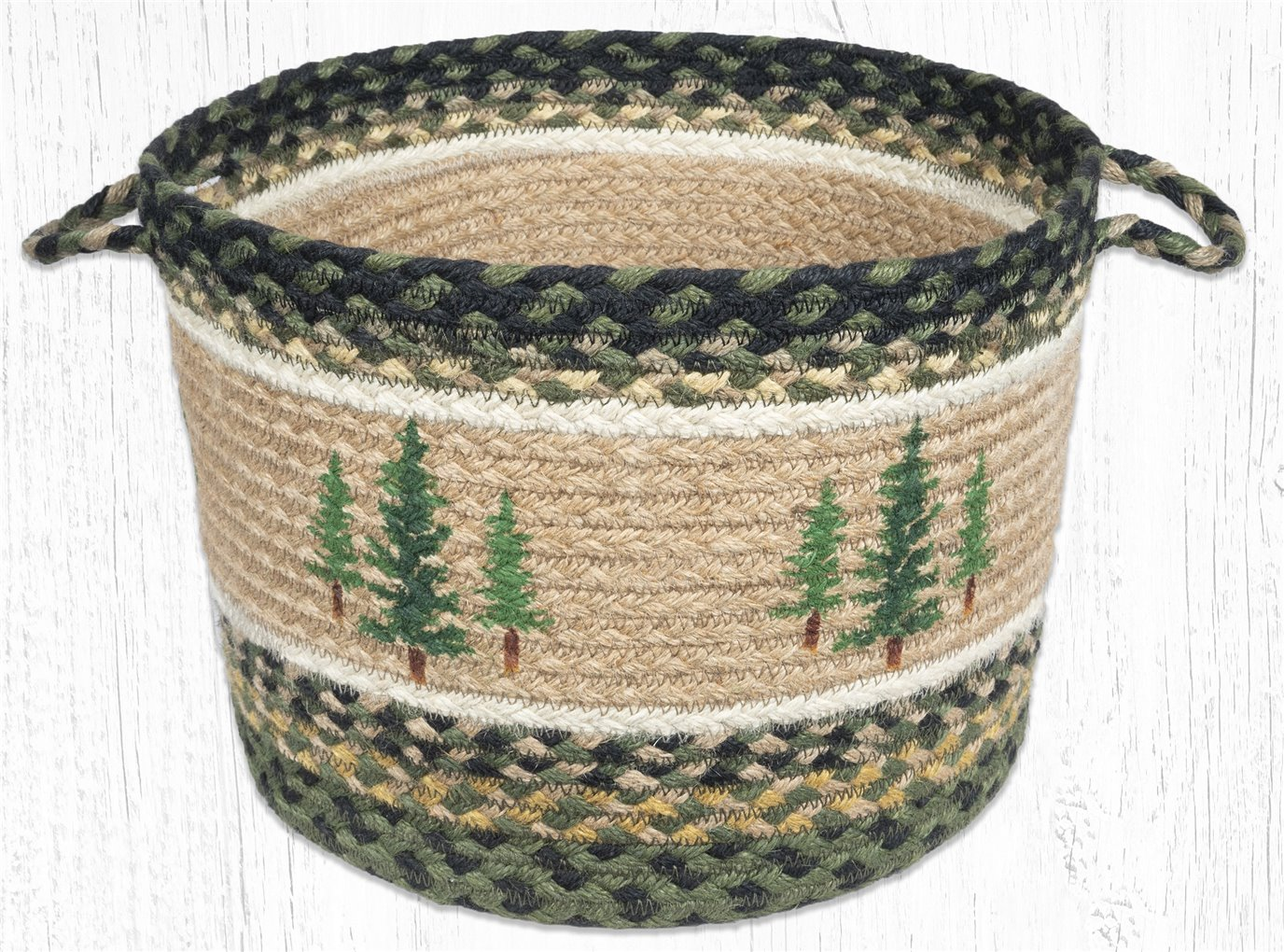 """Tall Timbers Printed Braided Utility Basket 13""""x9"""""""