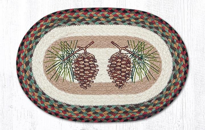"""Pinecone Oval Braided Placemat 13""""x19"""""""