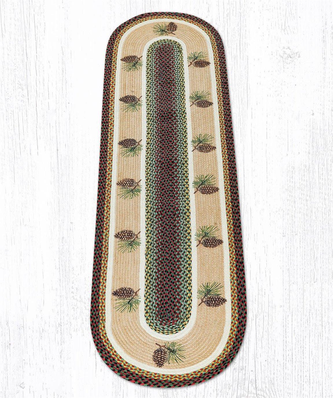 Pinecone Oval Braided Rug 2'x8'