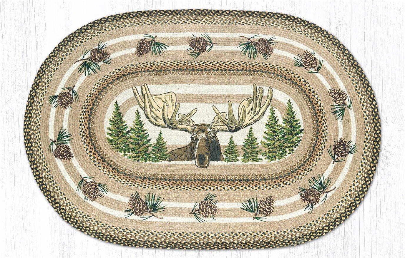 Bull Moose Oval Braided Rug 4'x6'