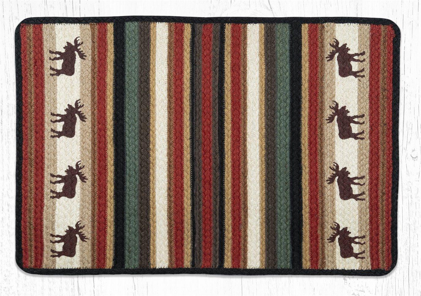 """Moose Rectangular Braided Rug 20""""x30"""""""