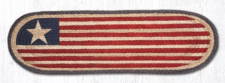 "Original Flag Oval Braided Stair Tread 27""x8.25"""
