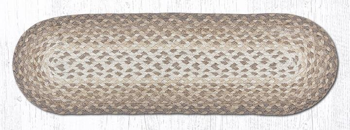 """Natural Oval Braided Stair Tread 27""""x8.25"""""""