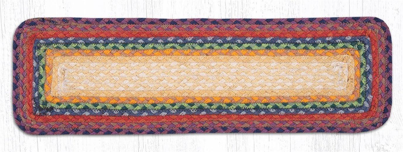 """Rainbow 1 Rectangle Braided Stair Tread 27""""x8.25"""""""