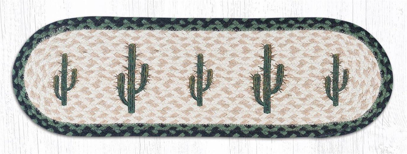 "Saguaro Oval Braided Stair Tread 27""x8.25"""